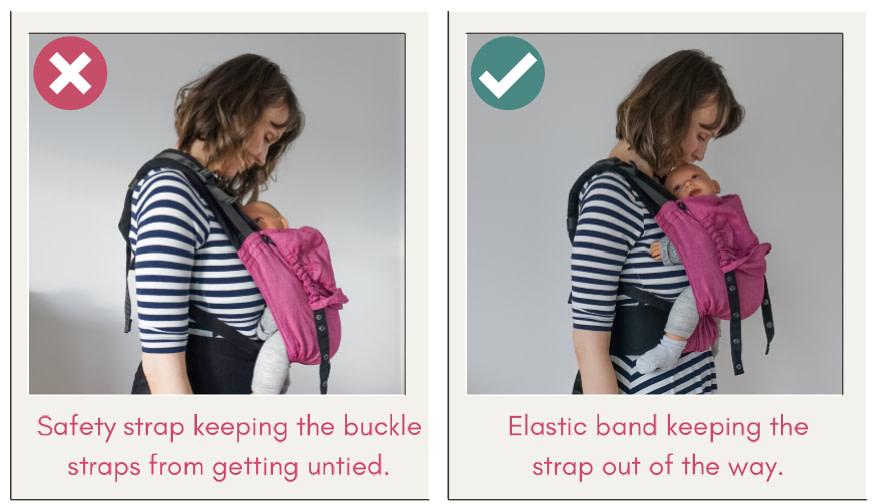 Babywearing safety TICKS - Close enough to kiss